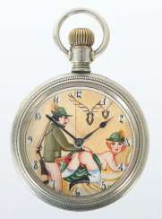 Mr pocket watch with erotic motif 20. Century
