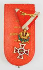 Austria: Leopold order, knight's cross with war decoration, in a case.