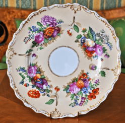 Plate porcelain private factory of A. Popov