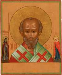 A SMALL ICON WITH ST. NICHOLAS OF MYRA