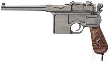 A Mauser C 96/16 with stopper box