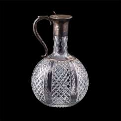 Russian decanter in the art Nouveau style. M. Linke