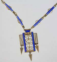Art deco enamel necklace Norway