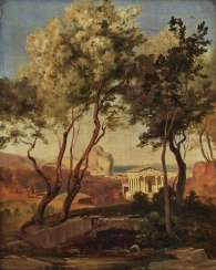 Italian landscape with temple