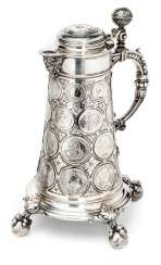 Big coin jug is made of silver