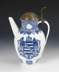 Cover pot with blue painting, MEISSEN
