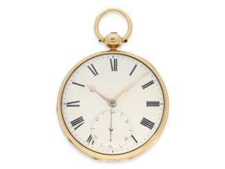 Pocket watch: early English Watch, of high fine quality, Henry Parkinson, London, No. 1352, Hallmarks London 1830
