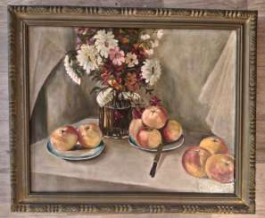 Russian artist of the 20th century. Still life of the Soviet Union