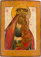 LARGE-FORMAT ICON WITH THE MOTHER OF GOD 'LABSAL OF THE SUFFERED' (ISBAVLENIE 'OT BYED STRAZHDUSHSCHIK) Russia