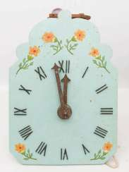 WOODEN WHEEL CLOCK WITH CLAPPER IMPACT