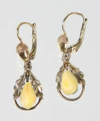 silver Grandel earrings gold plated