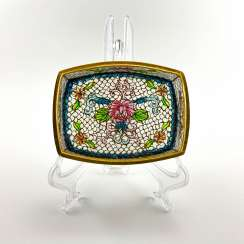 Jewelry box, rare technique of stained glass enamels, China, cloisonné, perfect condition