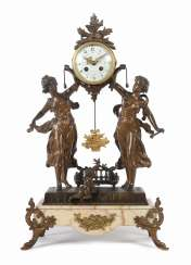 Great Figure Clock End Of The 19th Century. Century