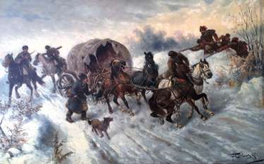 "F. Orlowski.The picture of the ""surprise attack"". XIX century"
