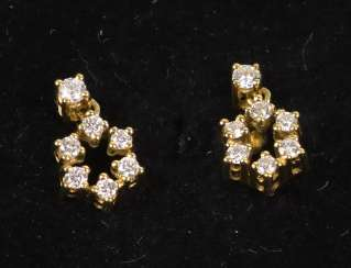 Diamond stud earrings 0.74 ct.