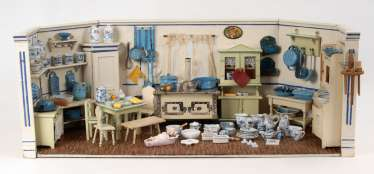 Large doll's kitchen with rich conditio