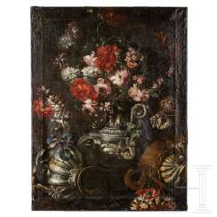 A pair of floral still lifes, probably Flanders, around 1700