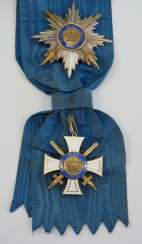 Prussia: Crown Order, 3rd Model (1871-1918), 1. Class set, with swords.