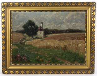 Late summer in the countryside - unknown artist