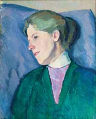 Portrait of Melanie Kayser, the artist's wife