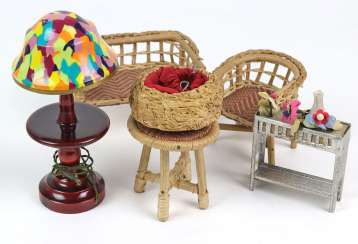 Dollhouse wicker furniture among other things