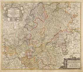 Map of Hesse and of the middle Rhine area - Johann Baptist Homann