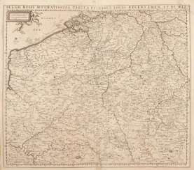 Map of Belgium - Frederik de Wit.