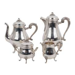 CHRISTOFLE 4-piece coffee - and Teekern, silver plated, 20. Century
