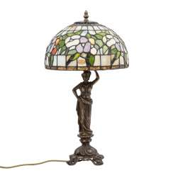 Table lamp in the Tiffany style, 20. Century.