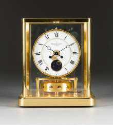 Table CLOCK 'ATMOS' WITH moon phase Switzerland, Jaeger Le Coultre, 2002.