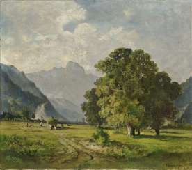 Harvest, landscape with a view on the Wendelstein
