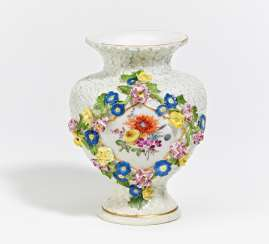 Small vase with snowball relief