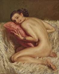 Marcel von Herrfeldt, female nude on white fur