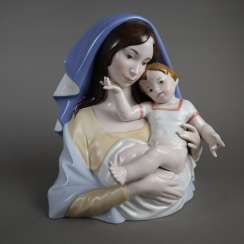 Porcelain sculpture Madonna and Child