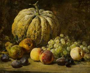 Still Life with Grapes, Peaches and a Melon