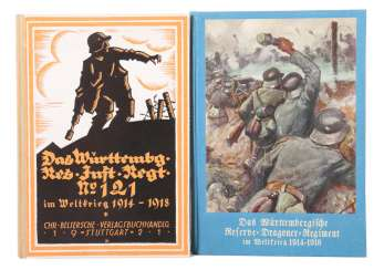 2 regimental books by Fritz Klett