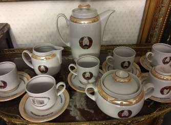 Exclusive. Presidential coffee service for 6, XX century.