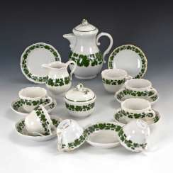 Mocha service with vine leaf decoration, Meissen