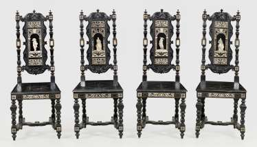 Four Neo-Renaissance Chairs