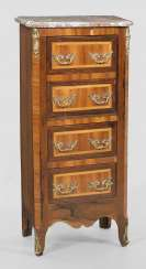 Small Louis XVI pillar chest of drawers