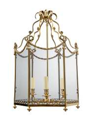 AN ENGLISH BRASS 'DROTTNINGHOLM' LANTERN