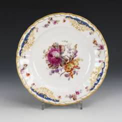 Plate with soft painting
