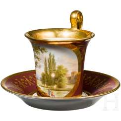 Cup with landscape, 1. Half of the 19th century. Century