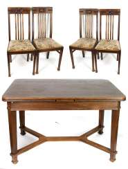 Table and 4 chairs 1930s