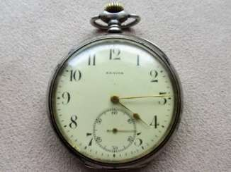 RARE VINTAGE ZENITH GRAND PRIX SILVER POCKET WATCH