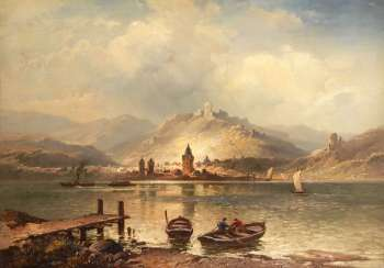 FRIESEN, Ludwig: river landscape with St
