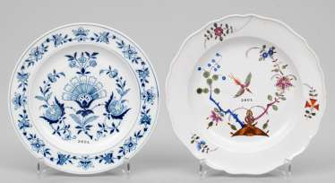 Two decorative plates