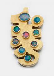Modern brooch with opals from the 70s
