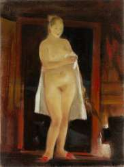 Standing Nude, signed and dated 1996 on the reverse.