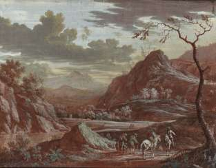 Mountain landscape with figure staffage